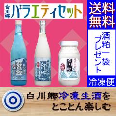 白川郷冷凍生酒 バラエティセット◆蔵元だより掲載商品◆【包装不可】